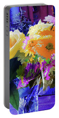 Abstract Flowers Of Light Series #7 Portable Battery Charger