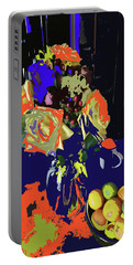 Abstract Flowers Of Light Series #8 Portable Battery Charger