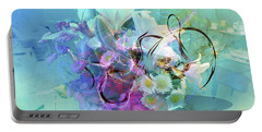 Abstract Flowers Of Light Series #9 Portable Battery Charger