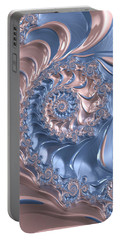 Abstract Fractal Art Rose Quartz And Serenity  Portable Battery Charger