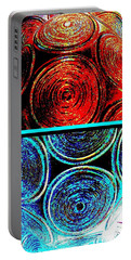 Portable Battery Charger featuring the digital art Abstract Fusion 275 by Will Borden