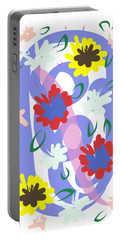 Abstract Garden #1 Portable Battery Charger