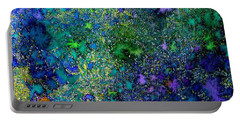 Abstract Garden In Bloom Portable Battery Charger by Desiree Paquette