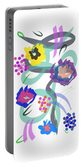 Abstract Garden Nr 4 Portable Battery Charger