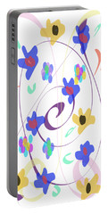 Abstract Garden Nr 7 Naif Style Portable Battery Charger