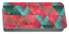 Abstract Geometric Colorful Endless Triangles Abstract Art Portable Battery Charger