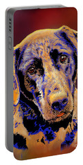 Abstract Golden Labrador Retriever Painting Portable Battery Charger
