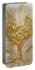 Abstract Golden Rooster Portable Battery Charger
