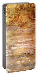 Abstract Golden Sunrise Beach  Portable Battery Charger