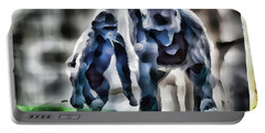 Abstract Gorilla Family Portable Battery Charger