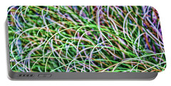 Abstract Grass Portable Battery Charger by Roberta Byram