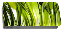 Abstract Green Grass Look Portable Battery Charger