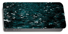 Portable Battery Charger featuring the photograph Abstract Green Reflections by Gary Smith