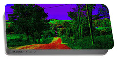 Abstract Highway Portable Battery Charger by David Stasiak