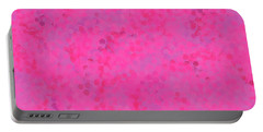 Portable Battery Charger featuring the mixed media Abstract Hot Pink And Lilac 4 by Clare Bambers