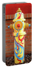 Portable Battery Charger featuring the photograph Abstract Hydrant by James Eddy
