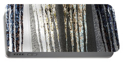 Portable Battery Charger featuring the digital art Abstract Icicles by Will Borden
