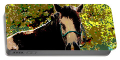 Abstract Image Of Horse Named Moon Portable Battery Charger