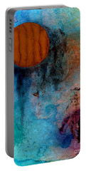 Abstract In Blue And Brown Portable Battery Charger