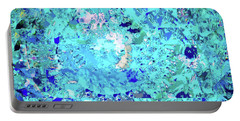 Abstract In Blue No. 56-2 Portable Battery Charger