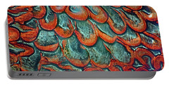 Abstract In Copper And Blue No. 7-1 Portable Battery Charger