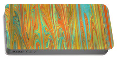 Abstract In Copper, Orange, Blue, And Gold Portable Battery Charger
