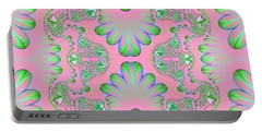 Portable Battery Charger featuring the digital art Abstract In Pastels by Linda Phelps