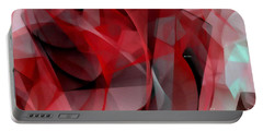 Portable Battery Charger featuring the digital art Abstract In Red Black And White by Rafael Salazar