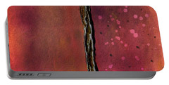 Abstract In Rose And Copper Portable Battery Charger by Desiree Paquette