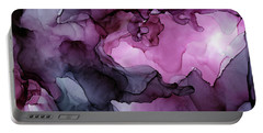 Abstract Ink Painting Plum Pink Ethereal Portable Battery Charger