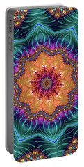 Portable Battery Charger featuring the digital art Abstract Kaleidoscope Art With Wonderful Colors by Matthias Hauser