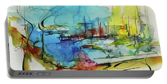 Abstract Landscape #1 Portable Battery Charger