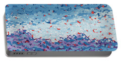 Abstract Landscape Painting 1 Portable Battery Charger