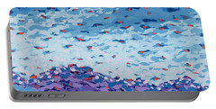 Abstract Landscape Painting 2 Portable Battery Charger