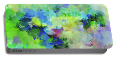 Portable Battery Charger featuring the painting Abstract Landscape Painting by Ayse Deniz