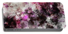 Portable Battery Charger featuring the painting Abstract Landscape Painting In Purple And Pink Tones by Ayse Deniz