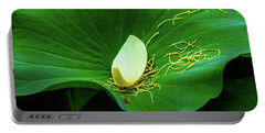 Abstract Leaves Of Green And Yellow Portable Battery Charger
