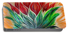 Abstract Lotus Portable Battery Charger