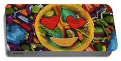 Abstract Love Portable Battery Charger