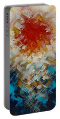 Abstract Blood Moon Portable Battery Charger