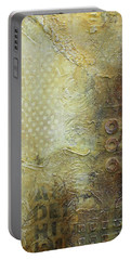 Abstract Modern Art Earth Tones Portable Battery Charger by Patricia Lintner