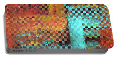 Portable Battery Charger featuring the painting Abstract Modern Art - Pieces 1 - Sharon Cummings by Sharon Cummings