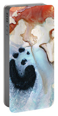 Portable Battery Charger featuring the painting Abstract Modern Art - The Vessel - Sharon Cummings by Sharon Cummings