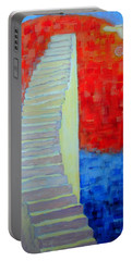 Portable Battery Charger featuring the painting Abstract Moon by Ana Maria Edulescu