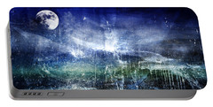 Abstract Moonlit Seascape Painting 36a Portable Battery Charger