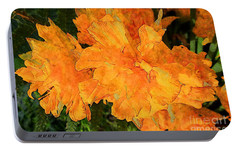 Portable Battery Charger featuring the photograph Abstract Motif By Yellow Daffodils by Jean Bernard Roussilhe