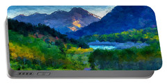 Abstract Mountain Vista  Portable Battery Charger by Anthony Fishburne
