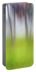 Abstract Moving Trees #1 Background Portable Battery Charger