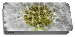 Abstract Nature Dandelion Floral Maro White And Yellow A1 Portable Battery Charger