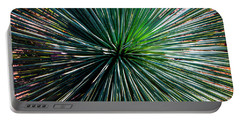 Abstract Nature Desert Cactus Photo 207 Blue Green Portable Battery Charger